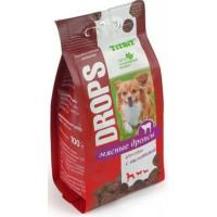 TitBit Лакомство для собак Дропсы с телятиной 100г