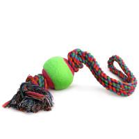 Триол Игрушка для собак Верёвка с петлей, 2 узла и мяч