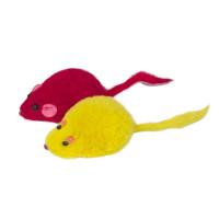 Игрушка для кошек Мышь цветная, 45-50мм