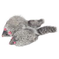 Триол Игрушка для кошек Мышь серая 90-100мм