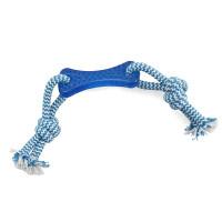 Triol Игрушка кость с веревкой 85*250мм