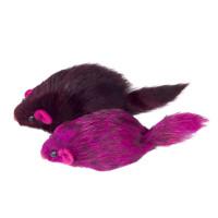 Триол Игрушка для кошек Мышь цветная, 70-75мм