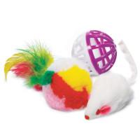 Triol Набор игрушек для кошек Мяч-Мышь-Шар