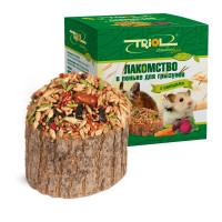 Триол Лакомство в пеньке для мелких грызунов с овощами 70г