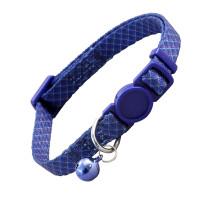 Triol Ошейник для кошек темно-синий в клетку, 10мм*210-330мм