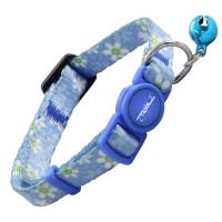 Triol Ошейник для кошек голубой с ромашками, 10*210-330мм