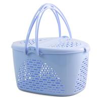Triol Переноска для животных из пластика S, овальная, голубая, 400*290*230мм