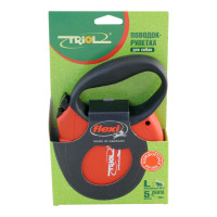 Triol by Flexi Standard Soft L Поводок-рулетка лента 5м до 50кг, красный