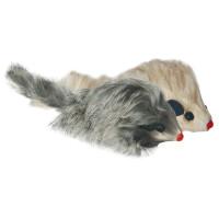 Triol Игрушка для кошек Мышь серая с пищалкой