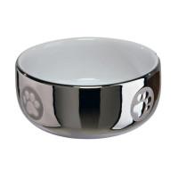 Миска керамическая, 0,3 л/ø 11 см, серебряный/белый