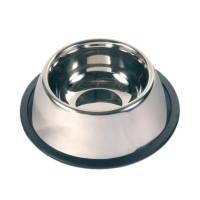 Миска, металл. с резинкой для спаниеля Ф 15 см, 0,9 л.