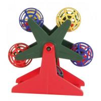 Trixie Игрушка для попугая карусель с шариками 4см