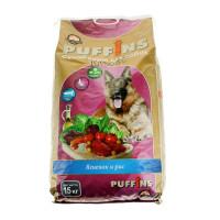 Пуффинс сухой для собак Ягнёнок и Рис 15кг