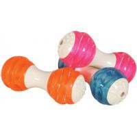 Золюкс Игрушка Гантель Dental комбинированная, (термопластич. резина), цвета в ассорт., 14,5 см