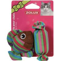 Золюкс Игрушка мягкая Рыбка и Конфета с мятой для кошек
