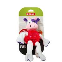Золюкс Игрушка плюшевая (хлопок+термопластичная резина) для собак Корова, 23 см