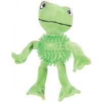 Золюкс Игрушка плюшевая (хлопок+термопластичная резина) для собак Лягушка, 23 см