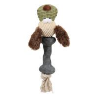 Золюкс Игрушка плюшевая комбинированная для собак Собака, 25 см